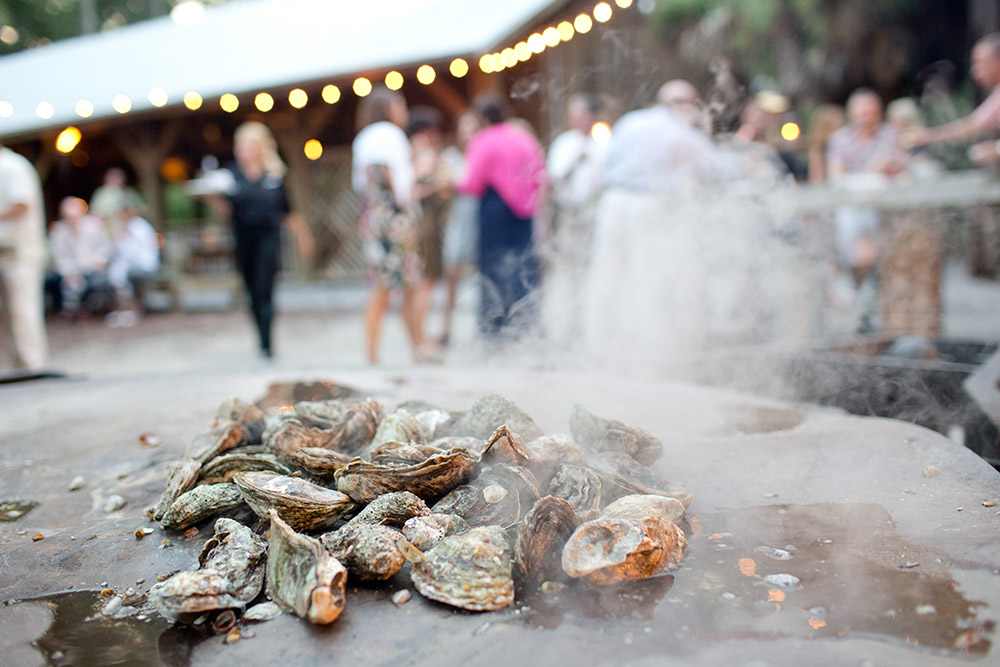 Lowcountry Wedding Oysters in Hilton Head