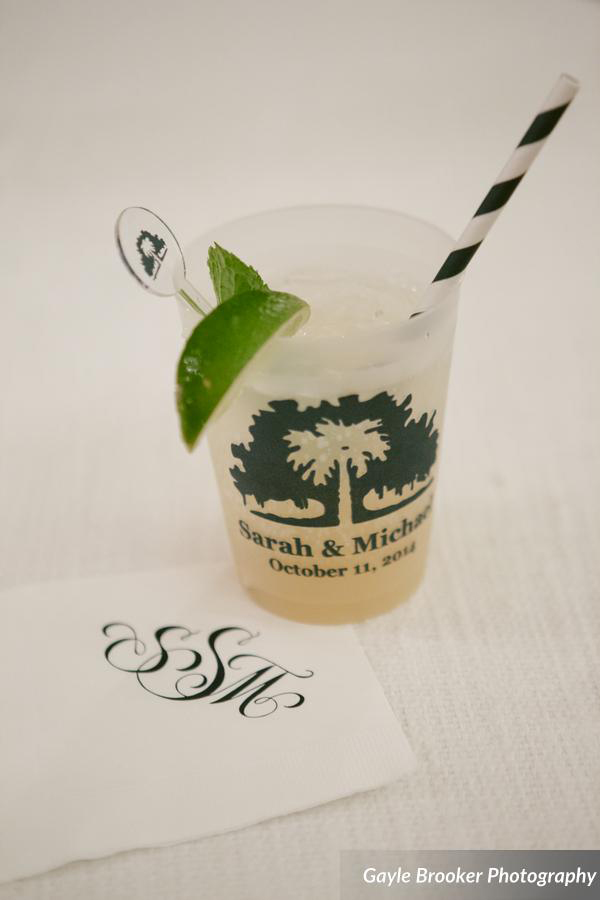 Palmetto Bluff Wedding Cup Design