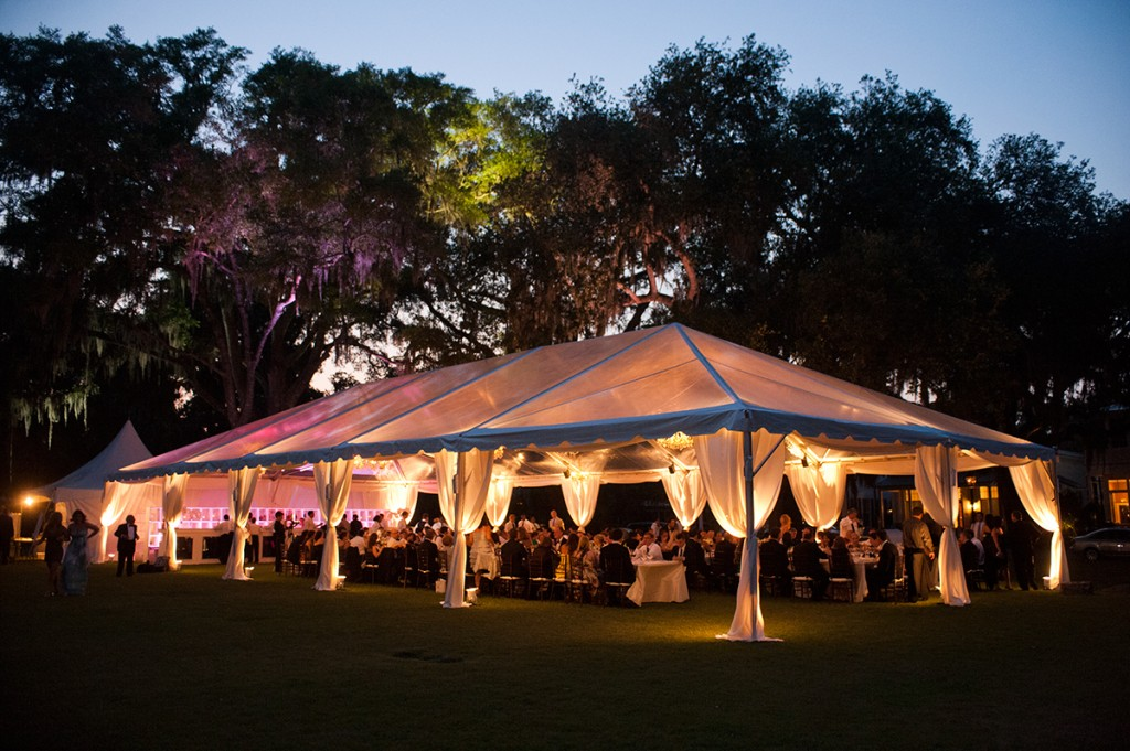 Tented Reception at Palmetto Bluff