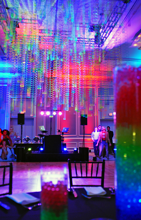 90s Party decor slinkys lights